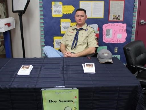 Boy Scout at Science Night