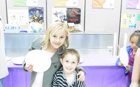 Two students at Bingo for Books Night