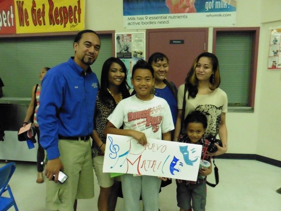 Family with their student