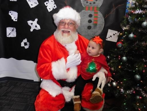 Student with Santa Claus