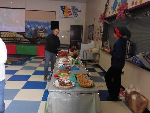 Condor Holiday Store Food Table
