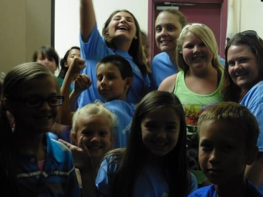 Students at School House Rocks assembly