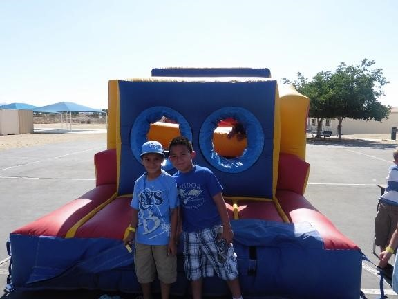Two students at Carnival day