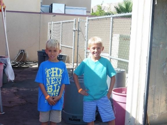 Two students at Carnival day at Condor Elementary