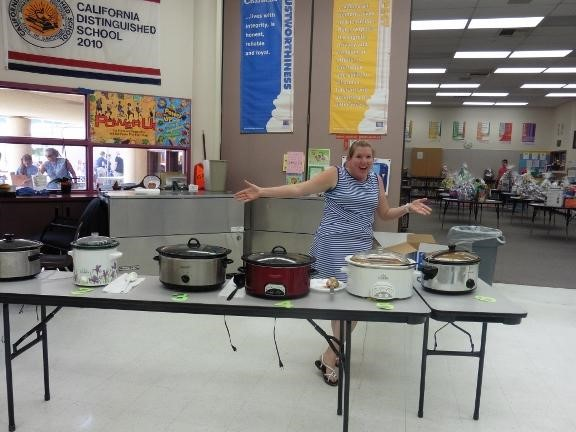 Carnival day at Condor Elementary food table