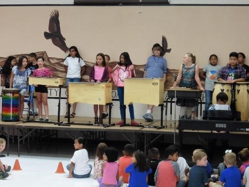 Students as Artists on stage