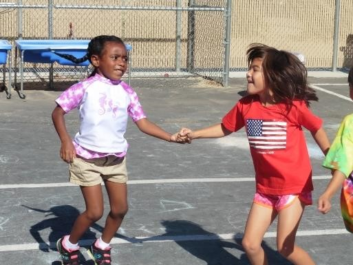 Students at field day
