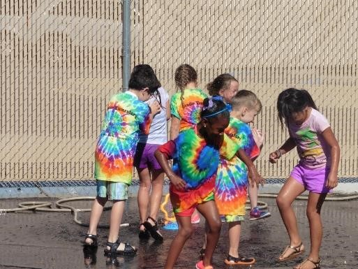 Group of students at field day