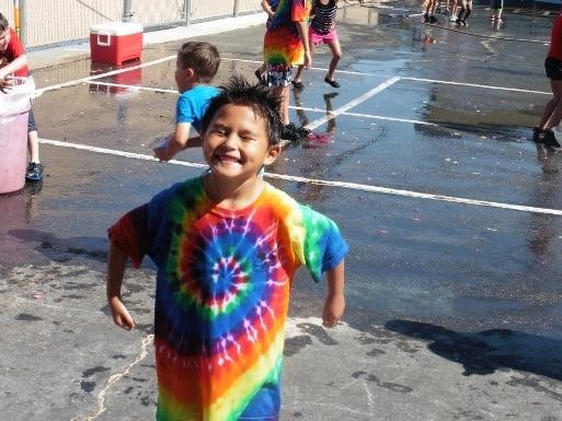 Student at field day