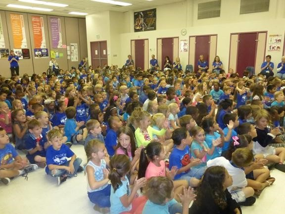 Audience at the Character Counts Assembly