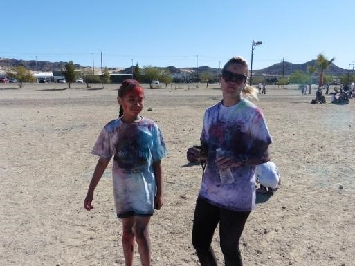 Runners at the Condor's Color Run