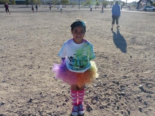 Student at the Condor's Color Run