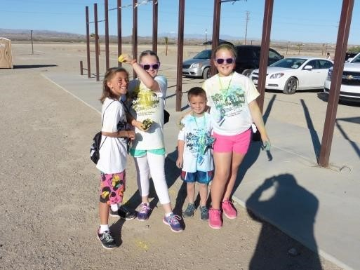 Students at the Condor's Color Run
