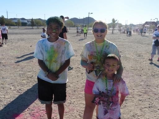 Students with their crazy colors
