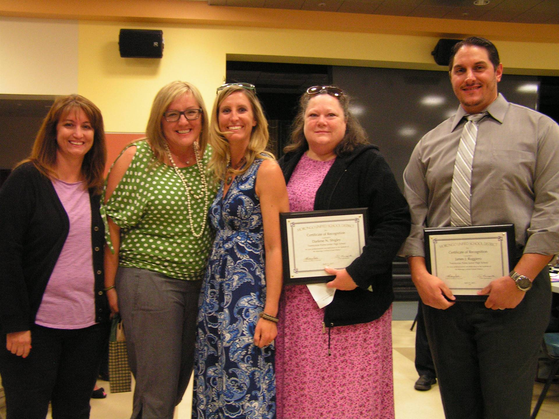 29 PALMS JR HIGH: TERRIE PANZARELLA, GERRY KENNEY, STACY SMALLING, DARLENE SHIGLEY, JAMES RUGGIERO