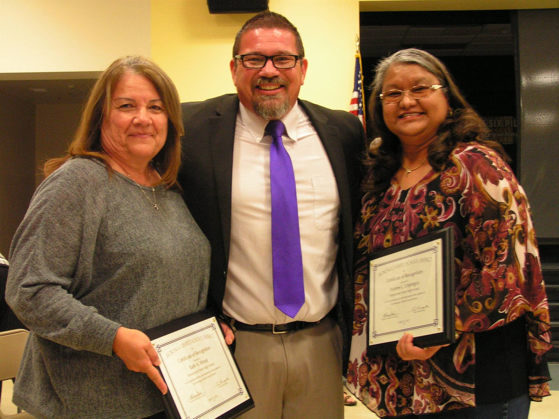 29 PALMS HIGH SCHOOL: BARB WOOD, JUSTIN MONICAL, YVONNE UNPINGCO