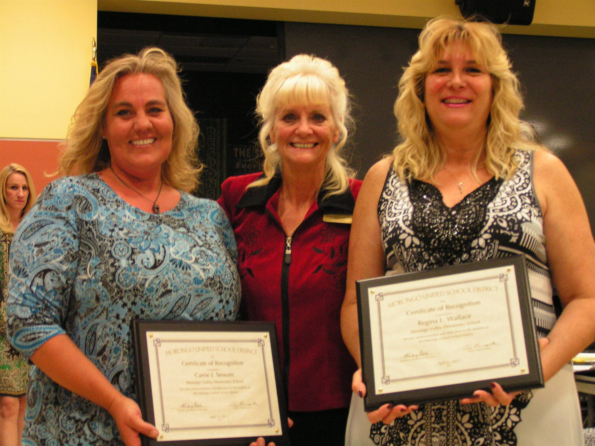 MORONGO VALLEY ELEMENTARY: CARRIE SESSUM, GEORGIANNE POPE, REGINA WALLACE