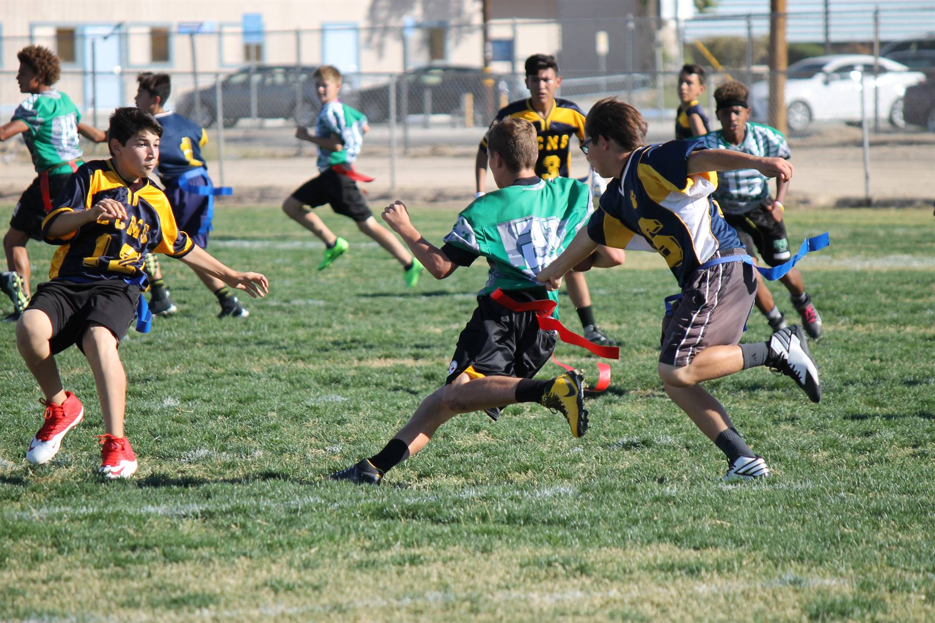 Picture of student running
