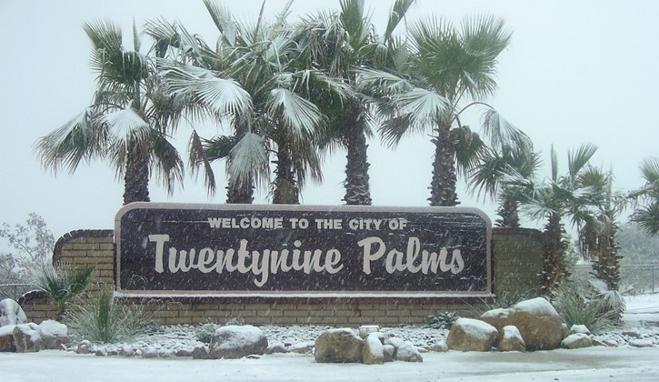 29 Palms Welcome Sign