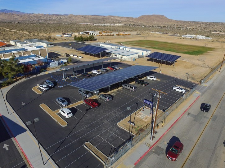 Solar Panel over view at La Contenta Middle School