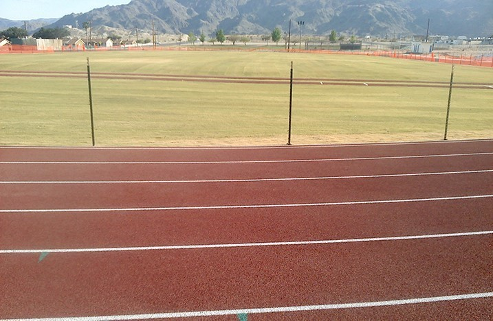 Track and Field area at School Site