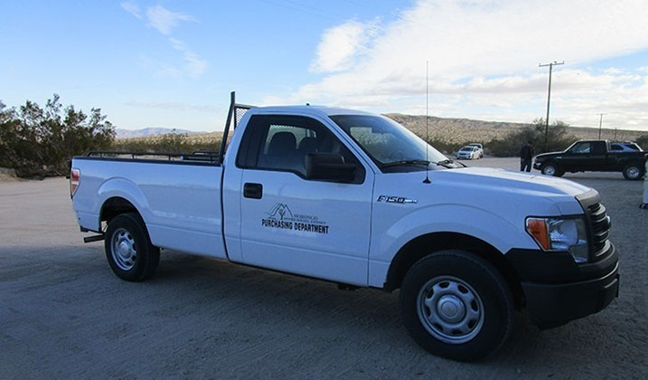 Purchasing and Warehouse Pick Up Truck