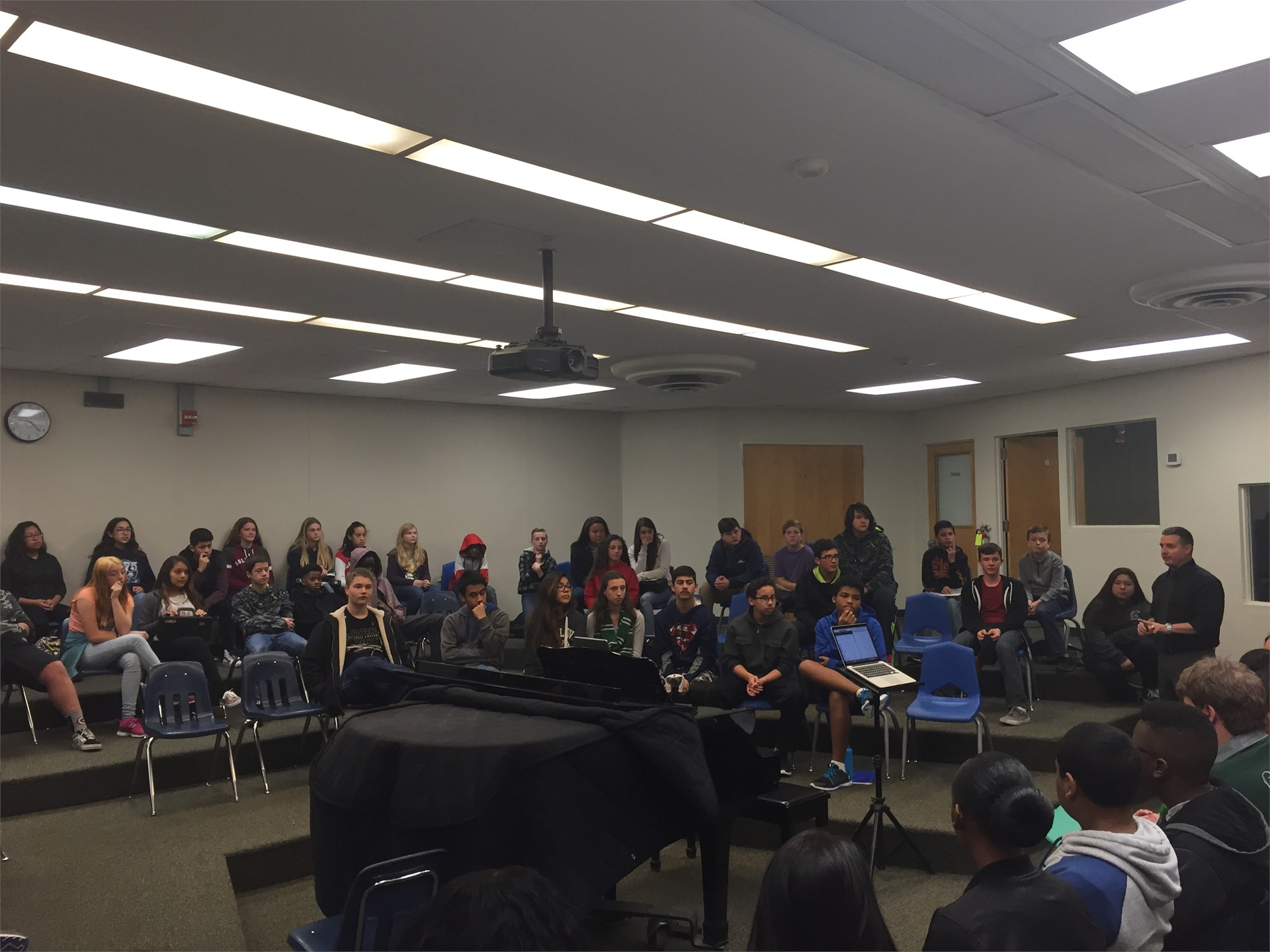 Select Choir performs for students
