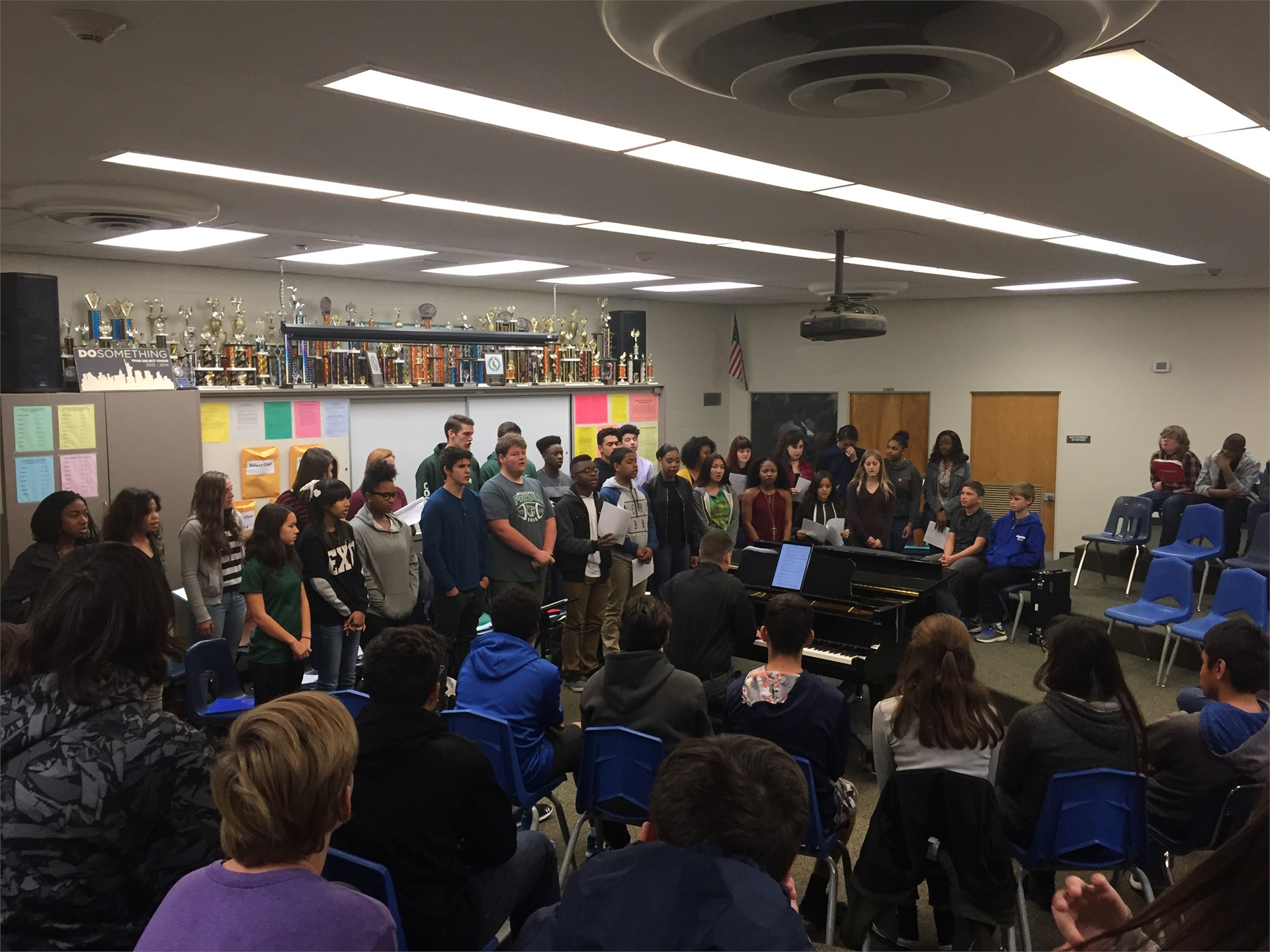 TPHS Select Choir performs for TPJHS students