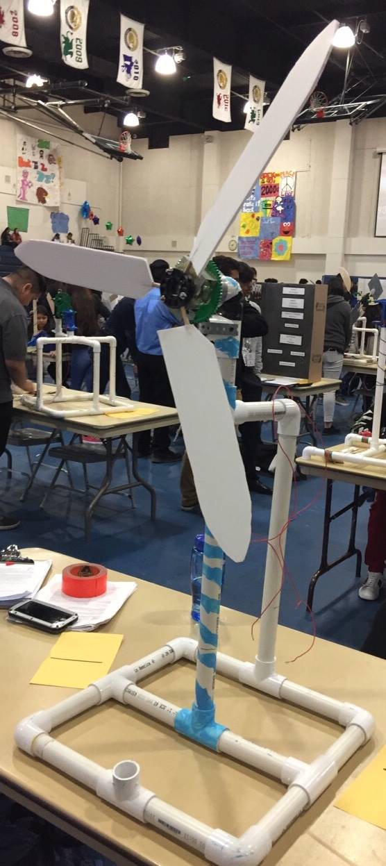 Wind Turbine built by students at AC2E.