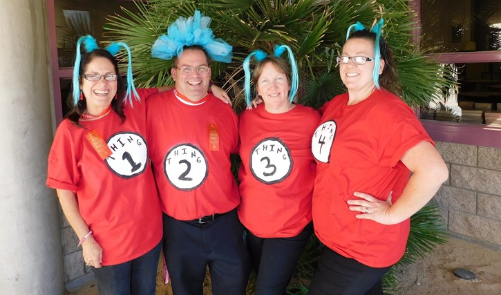 Staff dress up for Red Ribbon Week