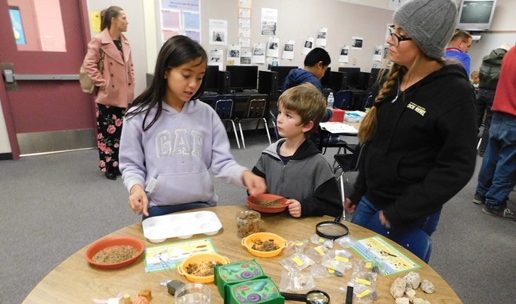Students and parents have fun in the STEAM lab