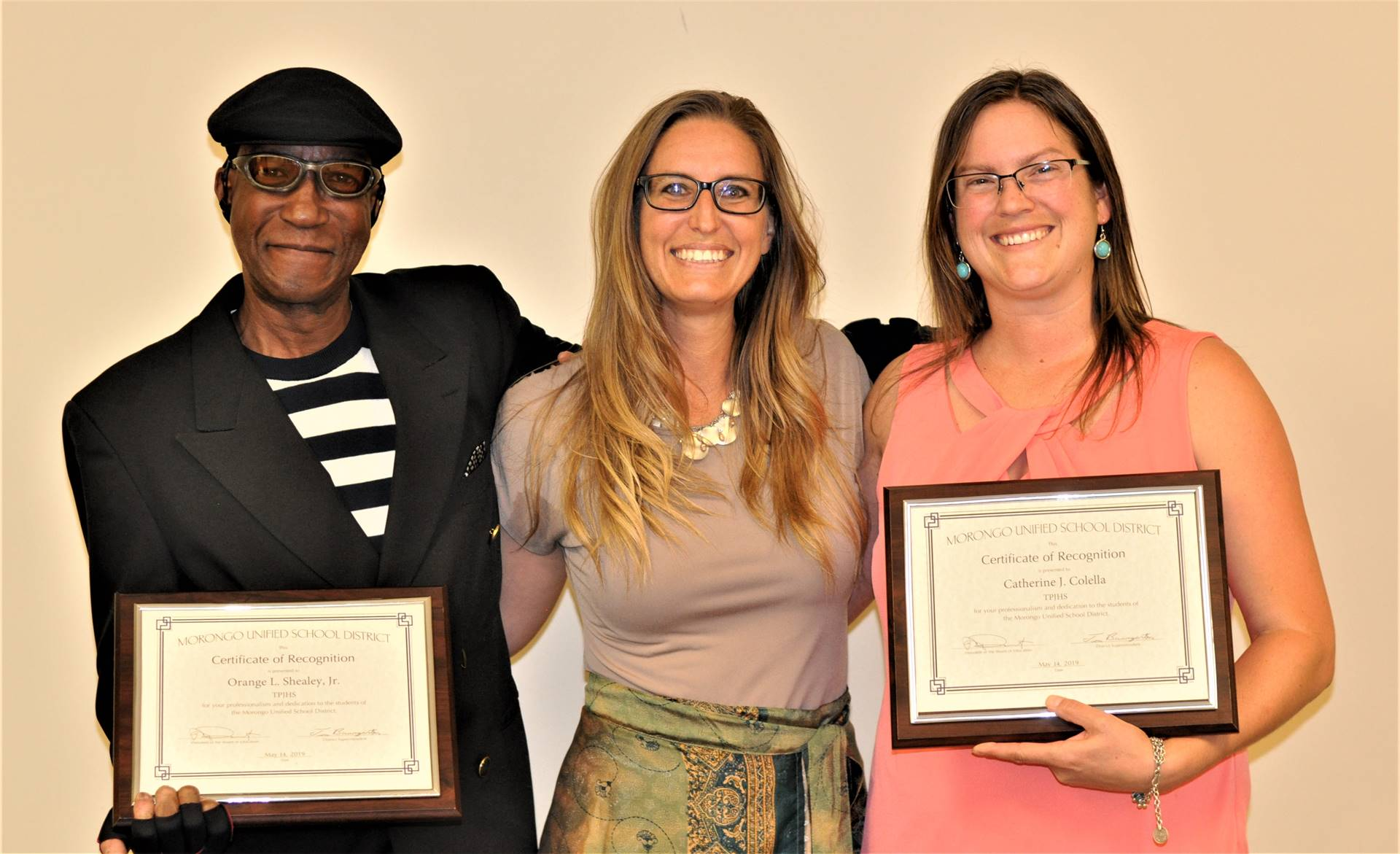 TPJHS:  Orange Shealey, Jr., Stacy Smalling, Catherine Colella