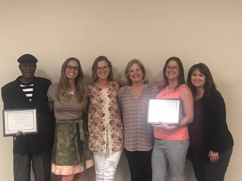 TPJHS employees recognized at the May 2019 Board meeting