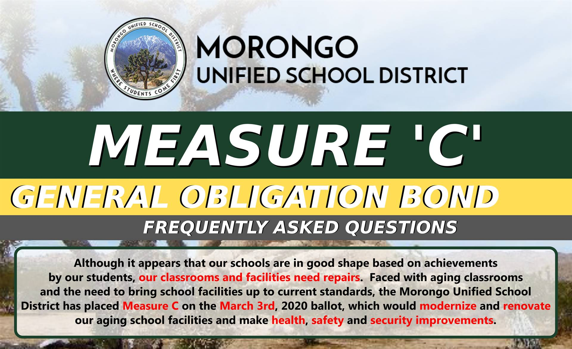 Measure C Frequently Asked Questions