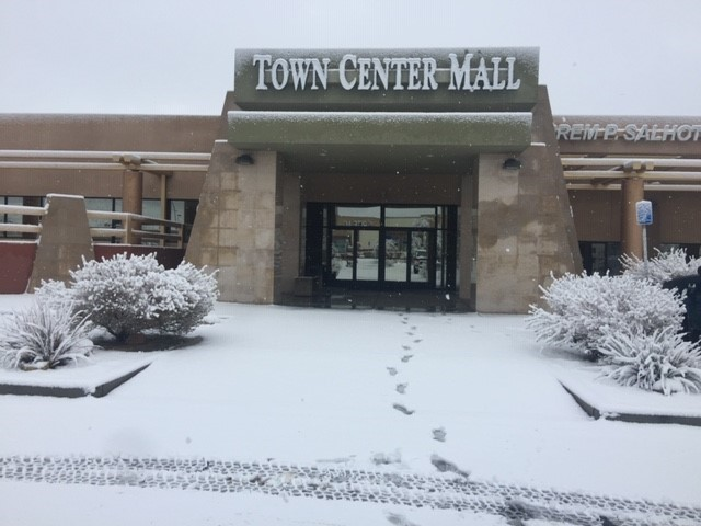Front of ACCE on snow day