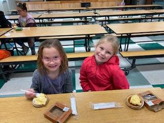 Students at snack time