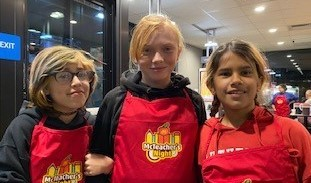 Students at fundraiser