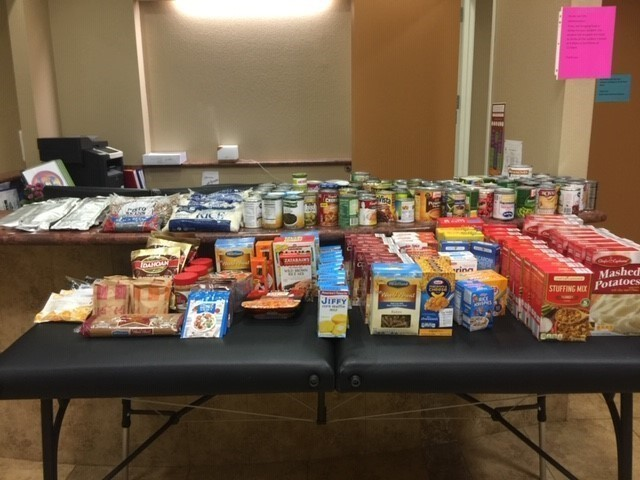 Student Run Canned Food Drive