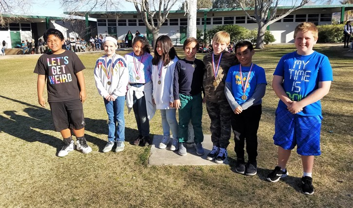 Second Place Science Fair Award recipients