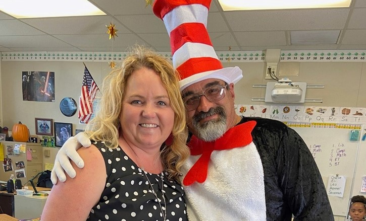Mrs. Bustin and the Cat in the Hat