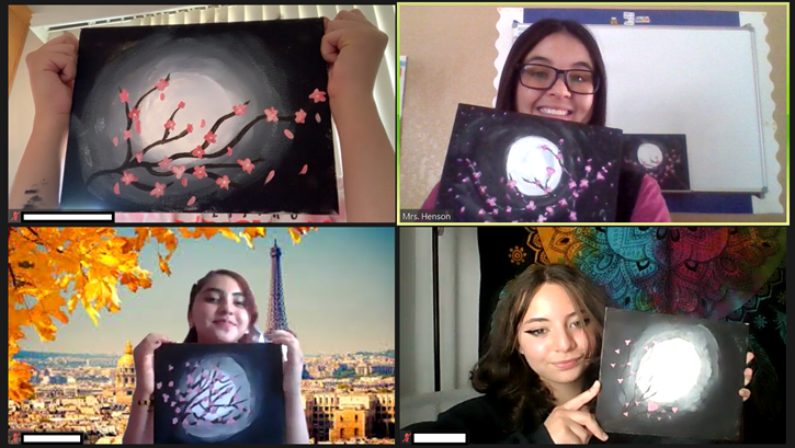 Japanese Language and Culture Club- Cherry Blossoms in Japan Paintings