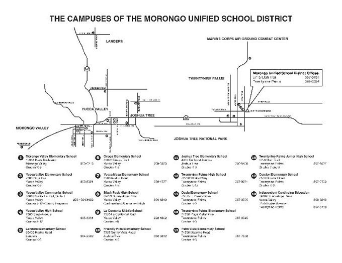 Map of District Office and School Sites